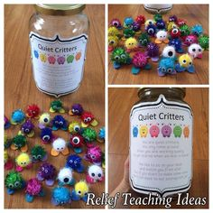 Quiet Critters - This is a great classroom management idea. I have personally used these in my own preschool classroom, it definitely works! Classroom Setup, Kindergarten Classroom, Future Classroom, School Classroom, Classroom Rules, Classroom Organisation Primary, Classroom Control, Classroom Reward System, Behavior System