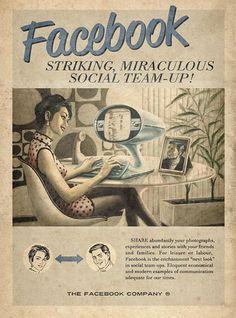 Affiche Facebook rétro vintag