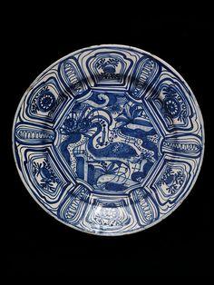 Dish  Portugal, ca. 1625  Tin-glazed earthenware  London, Victoria & Albert Museum, C.62-1910