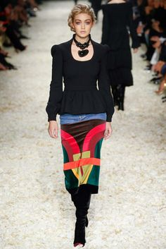 #multicoloured #multicolored Tom Ford Fall 2015 Ready-to-Wear Fashion Show: Look 4 - Style.com
