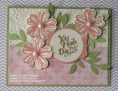 Stampin' Up! Card by Susan C at Stampin' Mom of Four:  Best of Greetings and Flower Shop