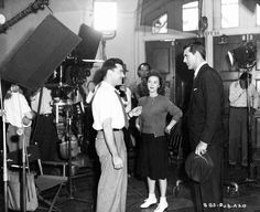 "Irving Reis, Shirley Temple, and Cary Grant on the set of  ""The Bachelor and the Bobby-Soxer"" (1947)"