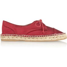 Tabitha Simmons Dolly silk-jacquard espadrille flats ($277) found on Polyvore