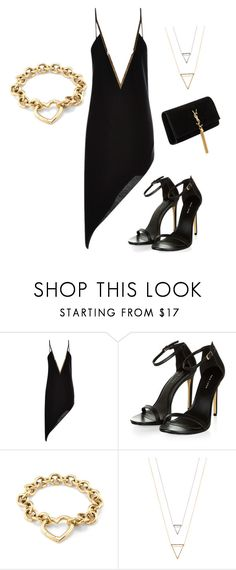 """Untitled #731"" by beatrizcosta96 ❤ liked on Polyvore featuring Anthony Vaccarello, Tiffany & Co. and Yves Saint Laurent"