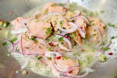 Ceviche de saumon façon Chilienne