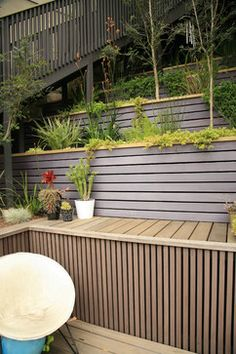 Wood Retaining Walls Design Ideas, Pictures, Remodel and Decor
