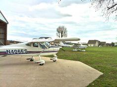 My Tecnam P92 and Bill's Cessna 152 @ Sugar Hill Airport