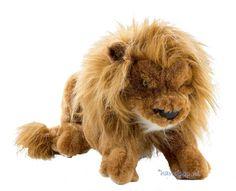 Van deze leeuw zou je op het eerste gezicht niet zeggen dat het een handpop is maar dat is ie toch echt, een 35 cm grote leeuw handpop van Folkmanis