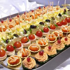 Deluxe Canapé Selection - Canapés - Manchester catering - Welcome to The Head Caterer - Catering in Manchester and Stockport area providing a professional catering service for wedding, corporate, business and bespoke buffet events in the Manchester area Appetizers For Party, Appetizer Recipes, Lunch Catering, Reception Food, Wedding Reception, Party Buffet, Mini Foods, Appetisers, Finger Foods
