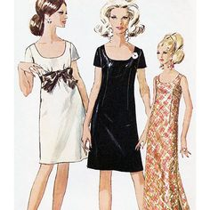 Simplicity 7384 Sewing Pattern Simple-to-Sew Misses Jiffy Dress in 2 Lengths