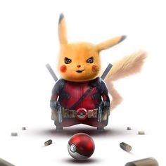 Deadpool Pikachu by Bosslogic - Marvel Comics Comic Book Artwork Pikachu Pikachu, Pikachu Mignon, Deadpool Pikachu, Cool Pokemon Wallpapers, Cute Pokemon Wallpaper, Cute Disney Wallpaper, Cute Cartoon Wallpapers, Deadpool Wallpaper, Avengers Wallpaper