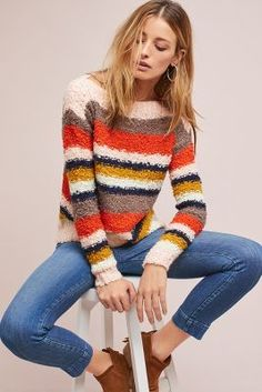 Shop the Striped Boat Neck Sweater and more Anthropologie at Anthropologie today. Read customer reviews, discover product details and more.