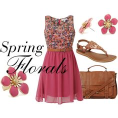 Spring Florals, created by huiwenzheng on Polyvore