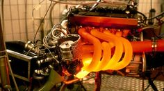 Old BMW Turbo F1 engine. The red-hot exhaust manifold makes me feel all toasty and warm. jayvoa