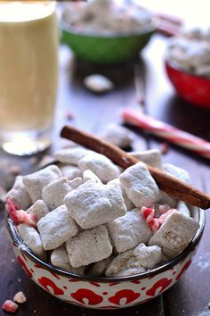 Peppermint Eggnog Muddy Buddies