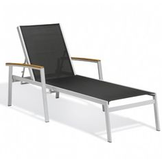 Travira Aluminum Sling Stackable Chaise Lounge Black $539.00