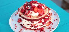 Recipe Details : Red Velvet Delight by Food Network South Africa Velvet Cake, Red Velvet, Chefs, Strawberry Slice, Chocolate Shavings, Take The Cake, Cake With Cream Cheese, Recipe Details, Piece Of Cakes