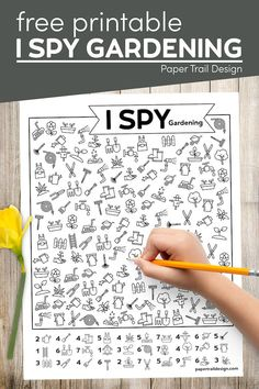 Print this fun I spy gardening activity that is both fun and educational for your kids. Get a moment of quiet to yourself. Printable Activities For Kids, Printable Crafts, Fun Activities, Free Printables, Party Printables, Easy Diy Crafts, Diy Craft Projects, Fun Crafts, Amazing Crafts