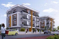 58 Ideas For Apartment Exterior Buildings Design Mix Use Building, Home Building Design, Building Exterior, Building Facade, Duplex Design, Bungalow House Design, House Front Design, Apartment Design, Modern Buildings
