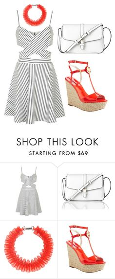 """""""Untitled #265"""" by kenzie-raye13 on Polyvore featuring Topshop, L.K.Bennett, Mary Katrantzou, MICHAEL Michael Kors, Summer and red"""