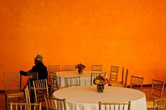 Man and Orange Wall - Jay Maisel