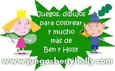 Juegos y dibujos para colorear de Ben y Holly en juegosbenyholly.com