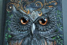 DISPLAY/ CUSTOM order   owl Journal secret diary by amandarinduck, £60.00