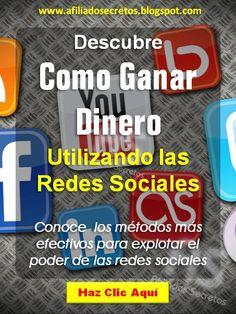 Visita. http://afiliadossecretos.blogspot.com/ y descubre como ganar dinero con el poder de las redes sociales
