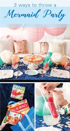 We've got the menu covered for your mermaid-themed kid's party! STOUFFER'S® Family Size Lasagna with Meat & Sauce, DIGIORNO® Cheese Stuffed Crust Five Cheese Pizza, and lemonade garnished with OUTSHINE® Fruit Bars are all you need to serve up items you know and trust to guests young and old! Talk about easy entertaining —especially when you can find everything at Walmart!