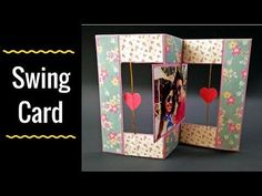 Hi, Today I m sharing video tutorial of Swing Card which is also called Flip-Flop card. Fun Fold Cards, Folded Cards, Unique Cards, Creative Cards, Handmade Birthday Gifts, Diy Birthday, Swing Card, Handmade Scrapbook, Paper Crafts Origami