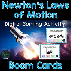 This interactive deck will allow your students to differentiate between and categorize Newton's 3 Laws of Motion with many different examples (30 total cards). This digital resource is hosted on Boom Learning™. Boom Cards™ require absolutely no printing, laminating, cutting, or grading. It's all done for you! Check out the preview for a free, playable demonstration.
