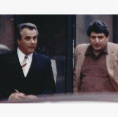 John Gotti and Frank DeCicco Mafia Gangster, Mobsters, Gangsters, Magazines, Crime, Nostalgia, Aesthetics, Handsome, Stars