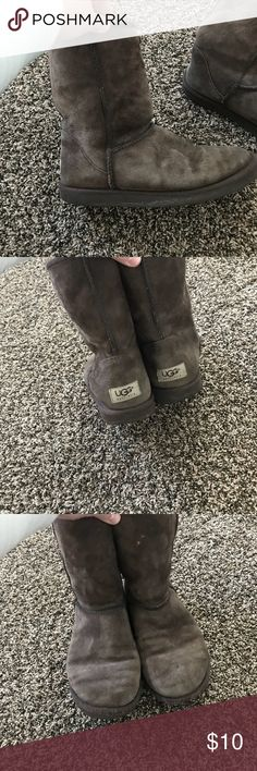 Chocolate brown uggs previously loved size 8 Used but still have some life left! Size 8 UGG Shoes Winter & Rain Boots