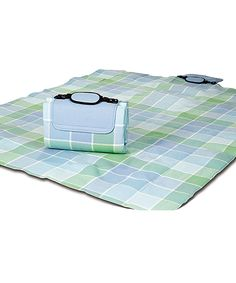 Take a look at this 48'' x 60'' Ocean Mist Plaid Picnic Mega Mat today!