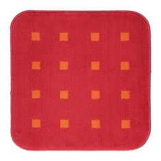 GUBBSKÄR  Bathmat, red, orange  $2.99    Or this coordinates with the orange in the larger rug... @Kathy Campbell : The Photog's Helper