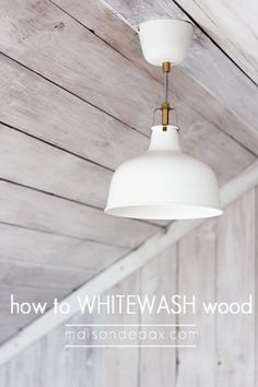 how-to-whitewash-wood-for-a-plank-wall-Maison-de-Pax-on-Remodelaholic. Decor, Whitewash Wood, Wood, Home Projects, Plank Ceiling, Plank Walls, Wood Ceilings, Home Improvement, Light