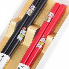 Lucky Cat Japanese Chopstick Set   Japanese Chopsticks