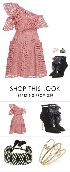 """""""Rock chick"""" by brooklynbeatz ❤ liked on Polyvore featuring self-portrait, Dsquared2, Sacred Jewels, Charter Club, music, eurovision, musicinspired and summerbooties"""