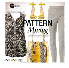 """""""Pattern Mix Master"""" by beebeely-look ❤ liked on Polyvore featuring Joseph Ribkoff, Oscar de la Renta, Gianvito Rossi, Topshop, country, StreetChic, patternmixing, premiereavenue, premiereavenueboutique and JosephRibkoff"""