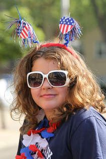 Elmwood Park Wednesday 7/4/12 Angelina Baratta, age9 during the Elmwood Park Village 4th of July parade. | Jerry Daliege~for Sun-Times Media