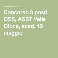 Concorso 8 posti OSS, ASST Valle Olona, scad. 19 maggio