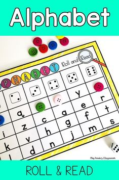 Alphabet Recognition Activity - Roll and Read Letters {Editable}, Alphabet Games For Kindergarten, Teaching The Alphabet, Preschool Learning Activities, Preschool Alphabet, Teaching Kindergarten, Teaching Resources, Letter Recognition Games, Letter Games, Alphabet Activities