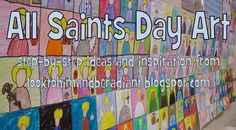 Happy almost All Saints Day! In honor of this awesome Solemnity, my students made a neat art project that turned out better than I even e. Catholic Religious Education, Catholic Crafts, Catholic Kids, Religious Art, Catholic School, Catholic Catechism, Catholic Churches, Catholic Saints, Teaching Religion