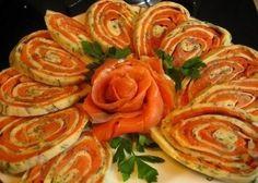 Red fish in pita bread
