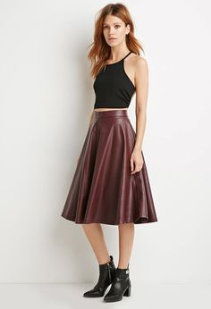 Faux Leather A-Line Skirt | Forever 21 Canada