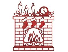 CCE 032 Christmas Fireplace Elites Cottage Cutz Die Cute   eBay