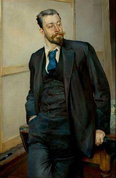 Michał Gorstkin-Wywiórski; portrait by Jacek Malczewski.