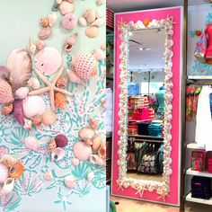 Shell Decor in Lilly Pulitzer Waterside in Naples