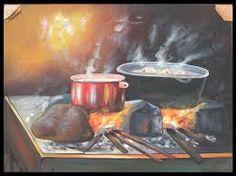 Resultado de imagen para bodegones de fogon Good Enough To Eat, Antiques, Painting, Crafts, Image, Google, Flowers, Christmas, Outside Wood Stove
