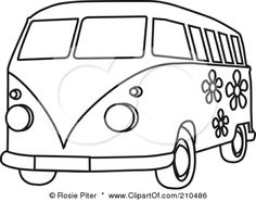 Google Image Result for http://images.clipartof.com/small/210486-Royalty-Free-RF-Clipart-Illustration-Of-A-Black-And-White-Coloring-Page-Outline-Of-A-Floral-Hippie-Bus-Van.jpg